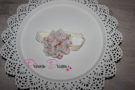 HB694 weiß/Tüll Blumendruck