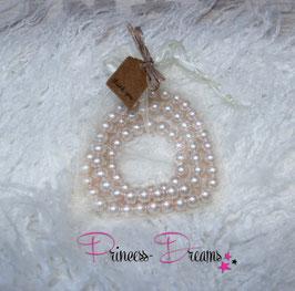 Perlenkette & Armband ivory/creme