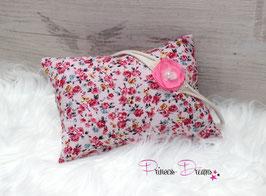 2tlg. Set Pillow/HB flower teal