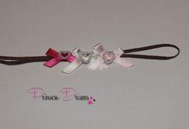 HB682 3Schleifen rosa,creme,pink