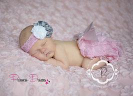 SET rosa: Haarband & Rüschenhose