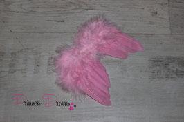 Federflügel pink XS 0-2/3 Monate!!