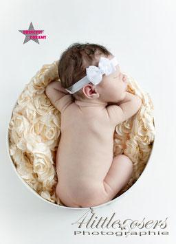 Haarband Schleife 06 weiß