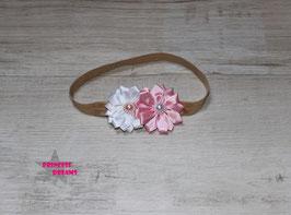 VHB 255b rosa/weiß Satinblume m. Perlen