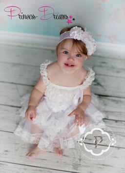 Princess-Kleid weiß/altweiß 1-3 Jahre