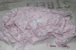 Spitzentuch babyrosa + VHB weiß