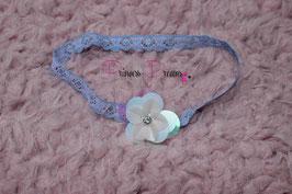 SHB 646 blau/pailletten Blume