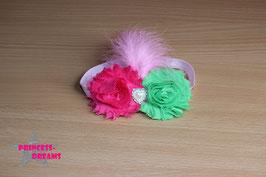 FHB Stofffransenbl. pink/grün
