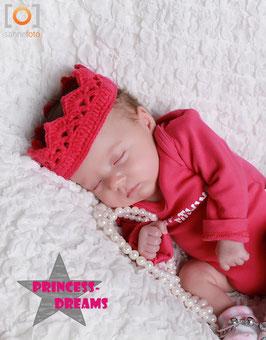 Häkel Krone pink