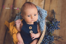 Newborn Mohair Latzshorts marine/dunkelblau