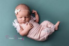 Rüschen Latzshose lang rosa ca. 0-2 Monate  auch mit Haarband bitte unten auswählen