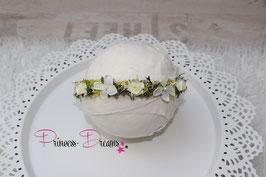 Blumenkranz zum Binden ab Newborn creme/ivory