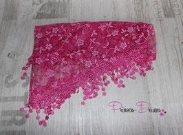 Dreiecks-Spitzentuch pink