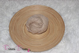 Neu! Strick-Mohair Musterwrap beige/tan