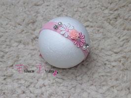 SHB Blume rosa mit Glitzerstein & Perlen