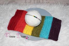 Rainbow Mohairtuch dunkel auch mit Haarband möglich