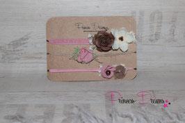 SHB Flower altrosa/braun Set oder einzeln