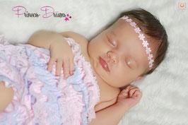 Rüschenbody babyblau/rosa 0-12