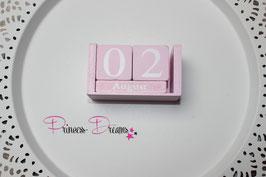 Geburtstag-Würfel Vintage rosa klein