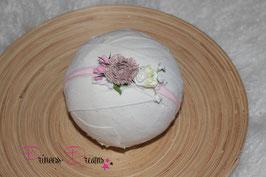 SHB Blumen rosa,braun,weiß,creme