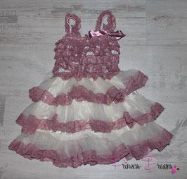 Princess-Kleid ivory/altrosa 1-3 Jahre