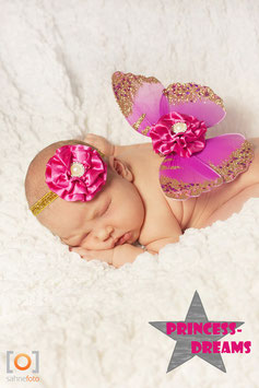 Flügel pink ab Newborn