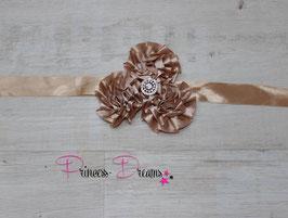 NEU Bauchband Blumen tan/braun