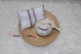 Set Pillow/Mütze Stern beige