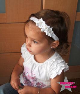 Haarband Blumen16 weiß