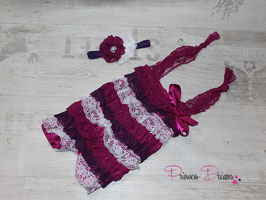 SET: HB541 & Body plum/lila/weiß 0-18 Monate