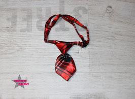 X-MAS Krawatte rot karriert 10x5cm