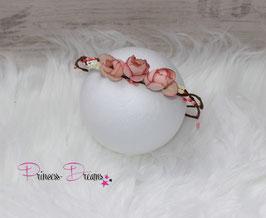 Blütenkranz für Newborns- ca. 2/3Monate  rosa/Rosen