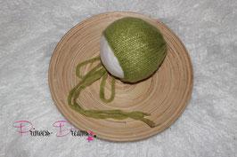 MohairStrick Haube grün