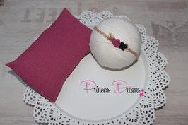 Pillow beere & Haarband im Set  Haarband bitte unten auswählen