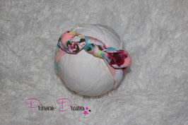 Schleifen-Stirnband ab KU40 rosa /Flower bedruckt