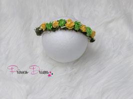 Blumenkranz zum BINDEN! gelb/grün