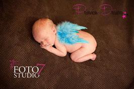 Federflügel blau XS 0-2/3 Monate!!