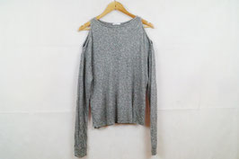 Grey Sweater with shoulder cut-outs!