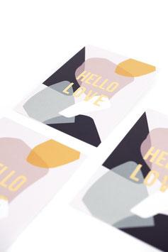 "Postkarte ""Hello Love"""