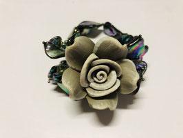 Madreperla - Bracciale Verde con Fiore