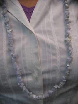 Collana Calcedonio con cips