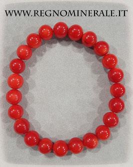 Corallo Rosso - Bracciale sfera