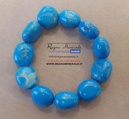 Magnesite  Blu -  Bracciale sasso