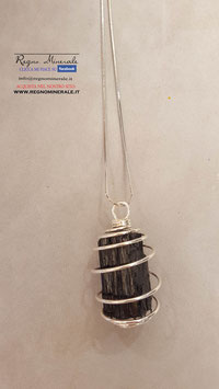 Tormalina Nera - Collanina Spirale