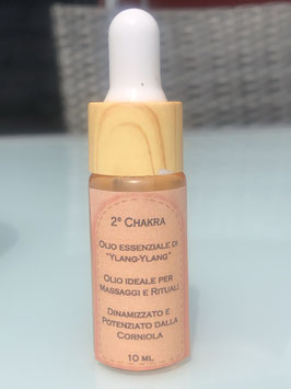 2° Chakra – Olio essenziale di Ylang-Ylang Dinamizzato e Potenziato dalla Corniola