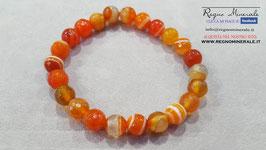 Agata Arancione - Bracciale sfera