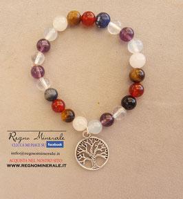 7 Chakra - Bracciale sfera con albero della vita