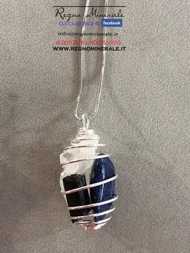 Tormalina Nera + Cristallo di Rocca + Sodalite (collanina spirale)