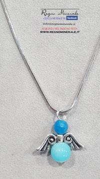 Angioletto in Agata Blu e azzurra