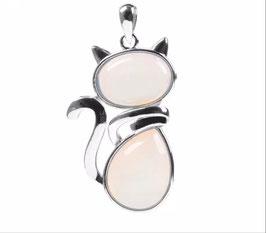 Collanina forma di Gatto in Opalina